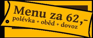 Rozvoz Ústí nad Labem - menu za 62,-